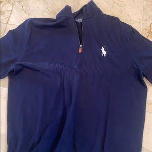 Blue polo sweater